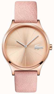 Lacoste Cadran en or rose Nikita et bracelet en cuir rose 2001014