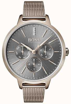 Hugo Boss Symphony gris cadran jour et date en maille 1502424