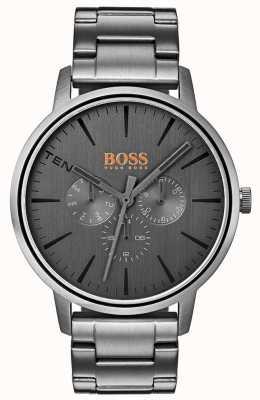 Hugo Boss Orange Copenhagen hommes jour et date afficher cadran gris ip revêtu 1550068