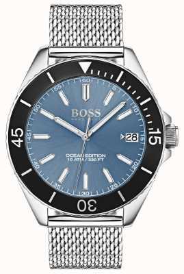 Boss Bracelet en maille édition océanique avec cadran bleu et cadran noir 1513561
