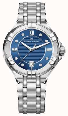 Maurice Lacroix Womens aikon 35mm acier inoxydable cadran bleu AI1006-SS002-450-1