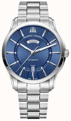 Maurice Lacroix Bracelet en acier inoxydable cadran bleu PT6358-SS002-430-1