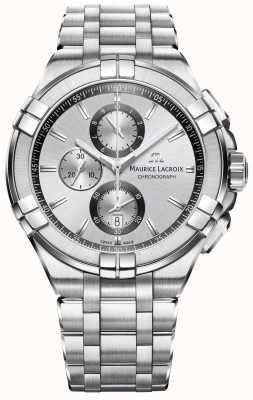Maurice Lacroix Mens aikon bracelet en acier inoxydable cadran argent AI1018-SS002-130-1