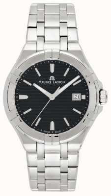 Maurice Lacroix Bracelet en acier inoxydable aikon noir cadran noir AI1008-SS002-331-1