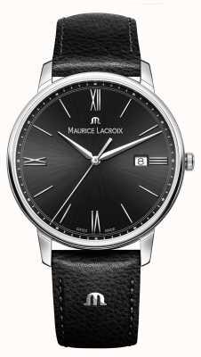 Maurice Lacroix Bracelet en cuir noir eliros noir cadran noir EL1118-SS001-310-1