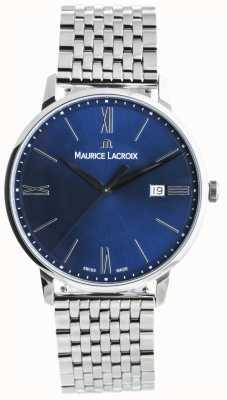 Maurice Lacroix Eliros mens cadran bleu bracelet en acier inoxydable EL1118-SS002-410-2