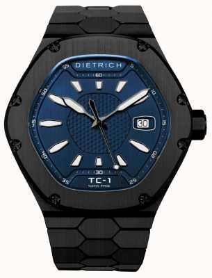 Dietrich Cadran noir automatique pvd bleu cadran TC-1 PVD BLUE