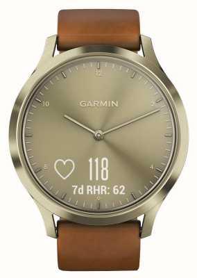 Garmin Vivomove hr traqueur d'activité premium or / cuir 010-01850-05