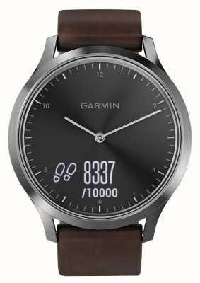 Garmin Vivomove hr (grand) suiveur d'activité premium acier / cuir 010-01850-04