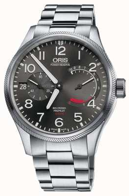 Oris Bracelet couronne grand calibre 111 en acier inoxydable 01 111 7711 4163-SET 8 22 19