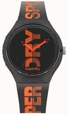 Superdry Bracelet noir urbain en silicone noir SYG189BO