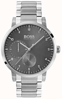Boss Bracelet en acier inoxydable montre bracelet en oxygène gris homme sunray 1513596