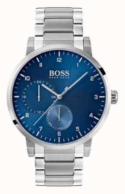 Hugo Boss Montre homme en acier inoxydable bleu bracelet en acier inoxydable sunray 1513597