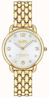 Coach Womens delancey slim or ton bracelet montre cadran argent 14502782