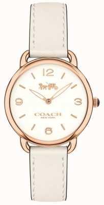 Coach Womens delancey slim bracelet en cuir blanc montre cadran blanc 14502790