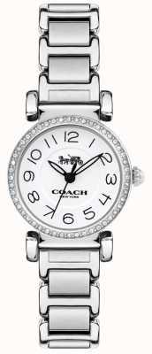 Coach Womens madison montre acier bracelet blanc cadran 14502851