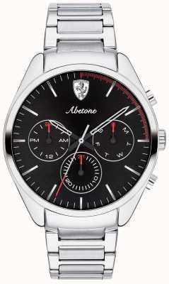 Scuderia Ferrari Bracelet montre homme en acier inoxydable avec chrono noir 0830505
