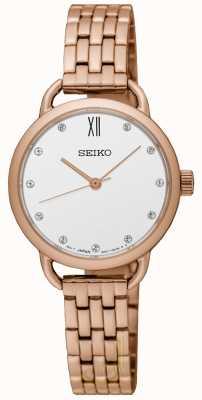 Seiko Bracelet en or rose recomprimé pour femme SUR698P1
