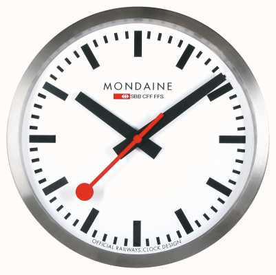 Mondaine Stop2go horloge murale intelligente cadran blanc MSM.25S10