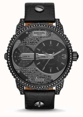 Diesel Montre bracelet en cuir noir daddy pour homme DZ7328