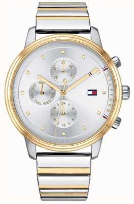 Tommy Hilfiger Bracelet homme bicolore chronographe argenté blake 1781908