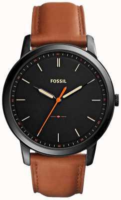 Fossil Mens le bracelet en cuir minimaliste 3h FS5305