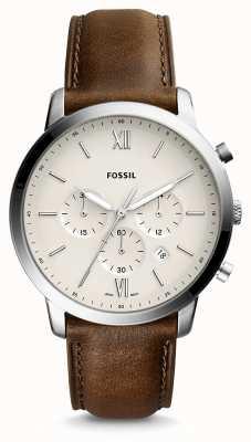 Fossil Bracelet en cuir chrono pour homme FS5380