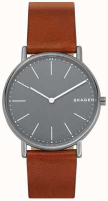 Skagen Bracelet en cuir signatur pour homme SKW6429