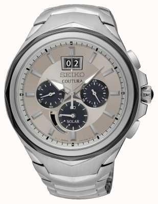 Seiko L'affichage de la date de coutura chronograph des hommes en acier inoxydable SSC627P9