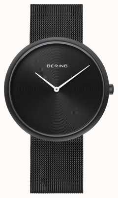 Bering Cadran noir mat classique bracelet en maille noire 14339-222
