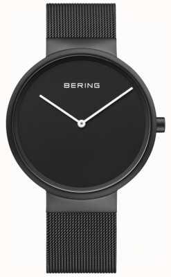 Bering Bracelet en maille enduite ip pour hommes avec cadran noir classique 14539-122
