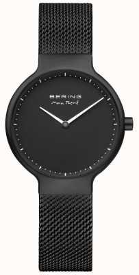Bering Cadran mat Max René noir et bracelet en maille plaqué IP noir 15531-123