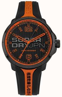 Superdry Bracelet kyoto orange et noir en silicone pour homme SYG216BO