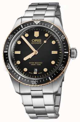 Oris Divers soixante-cinq montre bracelet en acier inoxydable 01 733 7707 4354-07 8 20 18