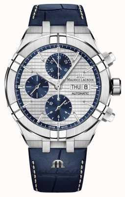 Maurice Lacroix Montre chronographe automatique Aikon en cuir bleu AI6038-SS001-131-1