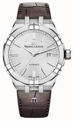 Maurice Lacroix Montre automatique Aikon en cuir marron AI6008-SS001-130-1