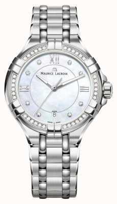 Maurice Lacroix Eliros dames moonphase nacre en acier inoxydable EL1096-SD502-107-1