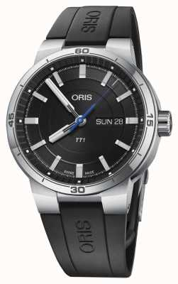 Oris Williams tt1 day date bracelet en caoutchouc noir 01 735 7752 4154-07 4 24 06FC