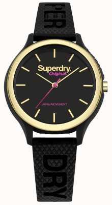 Superdry Sapporo fluoro pop bracelet en silicone noir SYL151BG