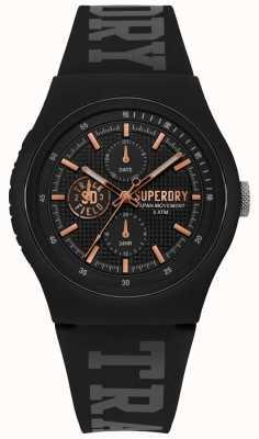 Superdry Bracelet en silicone noir Urban xl SYG188BRG