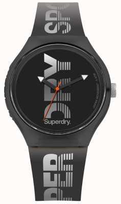 Superdry Urban xl sport bracelet en silicone noir SYG189B