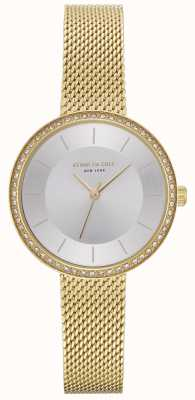 Kenneth Cole Womens diamond set montre en maille d'or KC50198005