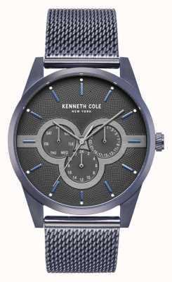 Kenneth Cole Boîtier en acier inoxydable pour homme avec bracelet en maille en acier inoxydable KC15205003