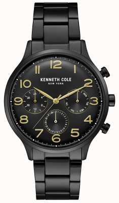 Kenneth Cole Montre chronographe homme noir pvd KC15185001