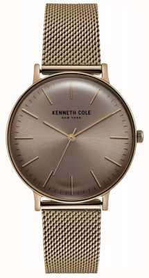 Kenneth Cole Montre en acier inoxydable rose à mailles dorées KC15183002