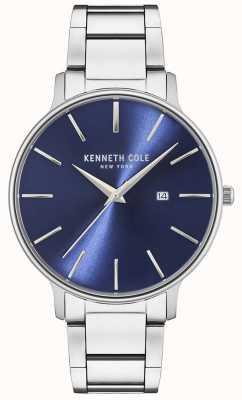 Kenneth Cole Montre à cadran bleu en acier inoxydable KC15059003