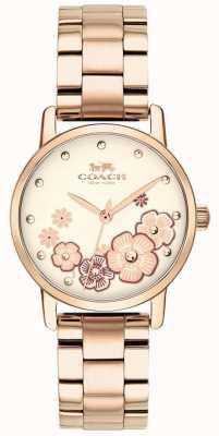 Coach Montre femme grand rose plaqué or 14503057