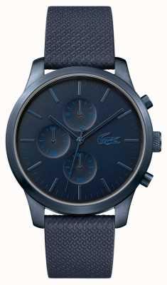 Lacoste Mens 12.12 85e anniversaire montre bleu foncé 2010948