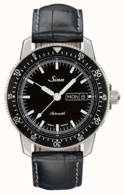 Sinn 104 st sa i pilote classique montre alligator cuir gaufré 104.010-BL44201851001225301A