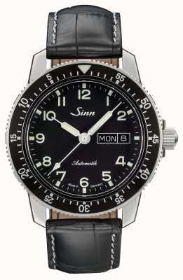 Sinn 104 st sa une montre de pilote classique bracelet en cuir noir 104.011 LEATHER